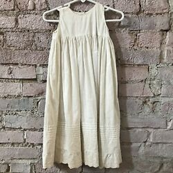 Antique Circa 1890s Baby Girls Nightgown Ornate Lace Toddlers White Cotton $49.00