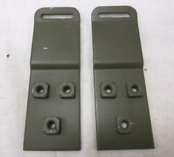 Vintage Willys Military M38 Jeep G740 Top Bow Rear Stowage Brackets U.s. Made