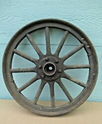 Car Wheel Vintage Metal And Wood Delivery Possibility 1900's Wood Spokes Antique