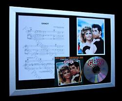 Grease The Movie Sandy Gallery Quality Cd Framed Display+express Global Shipping