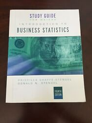 Study Guide Intro Business Stats 4th Edition By Weiers Used