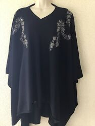 Thomas Wylde 100 Cashmere Poncho Sweater . One Size Fit All