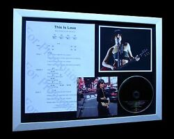 PJ HARVEY This Is Love LIMITED Numbered CD ENGLAND STORIES CITY FRAMED DISPLAY!!