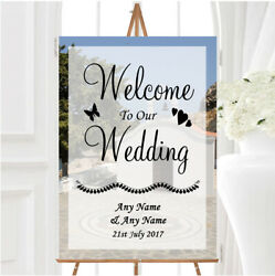 St Pauls Lindos Rhodes Abroad Personalised Any Wording Welcome Wedding Sign