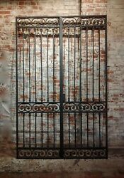 Beautiful 193040s vintage Double doors Iron Gate with ornate designs