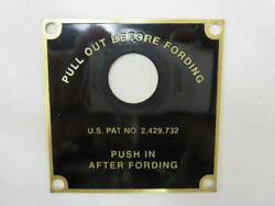 Vintage Willys Military Jeep M38 M38a1 G740 G758 Fording Data Plate