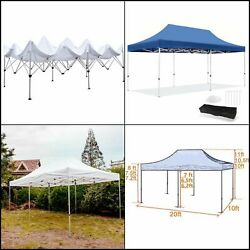 10x20 ft Easy Pop up Tent Heavy Duty Instant Shelter Portable Commercial Canopy