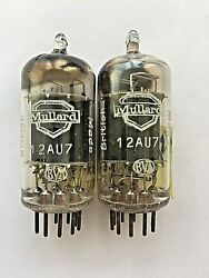 Mullard 12au7 / Ecc82 / Cv491 Matched Pair Square Getter New Strong From 1957
