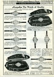 1940 Print Ad Of Hampden Ladies Wrist Watches The Watch Of Quality