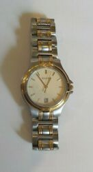 Two-tone Stainless Steel And Gold Men's 9040 Series Wristwatch