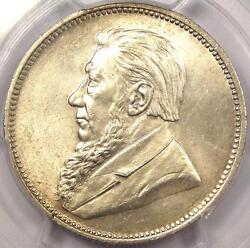 1896 South Africa Zar 2 Shillings 2s - Pcgs Ms62 - Rare Bu Ms Certified Coin