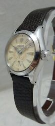 Rolex Oyster Perpetual Ladies Ss Orig Hobnail Dial Ultimate Survivor Watch 1954