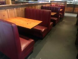 BOOTH SEATING FOR 24 PEOPLE W/ TABLES BOOTHS STEAK HOUSE MEXICAN RESTAURANT