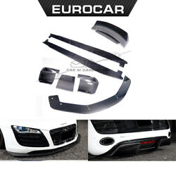 For Audi R8 front lip LB desing side skirts rear diffuser trunk spoiler 2008year