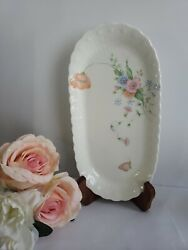 Something Blue By Mikasa -butter Tray - Discontinued - New No Box