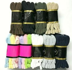 3 /6 /12 / Pair Non-binding Top Diabetic Colors Crew Sock Size10-13 And 9-11 Usa .