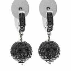 New Arrival 3.1ct Pave Diamond 18kt Solid White Gold Clip On Earrings Jewelry