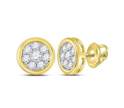 14 K Yellow Gold Rounds Earrings