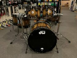 DW Collector's Series Exotic Tasmanian Limited Edition 6 Piece Drum Set Kit #24