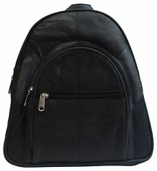 Women Backpack Purse Leather Casual Design Daypack Fashion Ladies Backpack Black $19.99