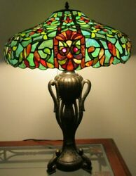 For Pick Up Only - Meyda Style Green Multi 28 Table Lamp 2 Bulb 2 Pulls