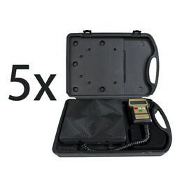 5 Pc Digital Refrigerant Electronic Charging Scale Meters 220 Lbs Hvac With Case
