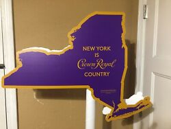 Crown Royal New York Country Cardboard Pole Topper Display Man Cave Decor Whisky
