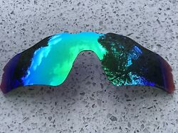 ETCHED POLARIZED GREEN MIRRORED REPLACEMENT OAKLEY RADAR EV PATH LENS amp; POUCH $27.49