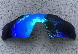 ETCHED POLARIZED ICE BLUE MIRRORED REPLACEMENT OAKLEY RADAR EV PATH LENS amp; POUCH $27.40