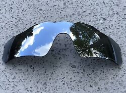 POLARIZED CHROME SILVER MIRRORED REPLACEMENT OAKLEY RADAR EV PATH LENS amp; POUCH $27.40