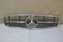 ✅ 72-89 Mercedes R107 Sl-class 2dr Front Upper Radiator Grille Grill Chrome Oem