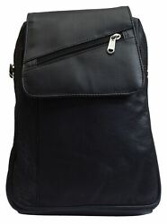 Women's Genuine Leather Small Backpack Causal Design Black Backpack Ladies