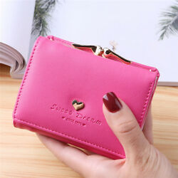 Women Metal Frame Kiss lock Small Clutch Cards Holder Wallet Coin Purse WE $9.38
