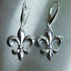 Royal Lily 925 Sterling Silver / Gold /platinum Drop Dangling Earrings