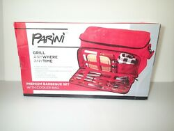 Parini Grill Anywhere Anytime Premium Barbeque Tailgate Set W/cooler Bag New  A