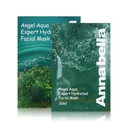 Annabella Angel Aqua Expert Hydrated Facial Mask Made In Thailand 10pc Authentic