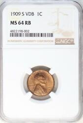 1909 S VDB Lincoln Wheat Cent MS64RB Key Date - DoubleJCoins - 2007-68
