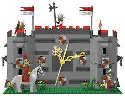 LEGO custom creation medieval castle clock for kid or collector