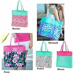 Beach Tote Inspired by Lily Pulitzer Monogram Available $19.99