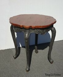 Vintage French Provincial Brown Side Table By Paradigm Fine Furniture