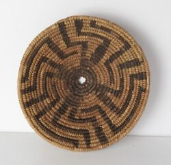 Native American Southwest Pima Papago Small Coiled Bowl Basket