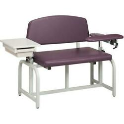 Clinton Lab X Bariatric Blood Drawing Chair with Drawer