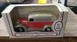 Ertl 1938 Panel Truck Bank Ben Franklin 6th Edition Rubber Tires Brand New 125