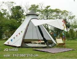 Indian Style Tent Pyramid Tent Double Door Camping Luxury Mongolian Yurt Family