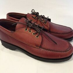Gokey Company Nos Vintage Brown Leather Sauvage Oxfords Menand039s Size 10 A