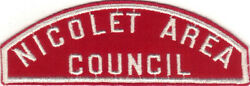 Boy Scout Rws Nicolet Area / Council Red And White Full Strip