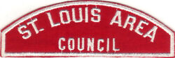 Boy Scout Rws St. Louis Area / Council Red And White Full Strip /45 Mm