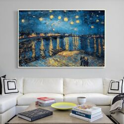 Vincent Van Gogh Starry Night Over The Rhone Art On Canvas Extra Large 28x42
