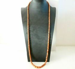 Necklace Of Coral Long Antique Fine Ottocento Closing Gold Solid 18 Carats