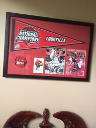 U Of L Cardinals 2013 Ncaa Champions Framed Picture